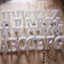Euone Home Decor, Wood Wooden Letters White Alphabet Wedding Birthday Party Home Decorations
