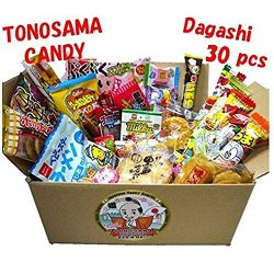 "Japanese candy assortment 30pcs , full of dagashi. ""TONOSAMA CANDY"""