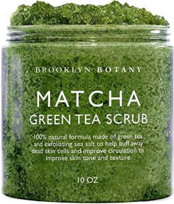 Matcha Green Tea Exfoliating Body Scrub – Multi Purpose Body and Facial Scrub Moisturizes  ...