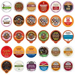 Coffee, Tea, Cider, Cappuccino & Hot Chocolate Single Serve Cups For Keurig K Cup Brewers Va ...