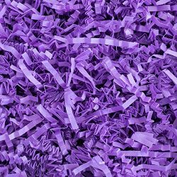 Crinkle Cut Paper Shred Filler (1/2 LB) for Gift Wrapping & Basket Filling – Purple    ...