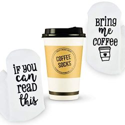 Luxury Coffee Socks with Paper Coffee Cup Gift Packaging: Valentines Day Gift If You Can Read Th ...