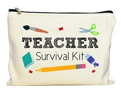 Moonwake Designs Teacher Survival Kit, Teacher Appreciation Gift, Teacher Makeup Bag, Teacher Pe ...