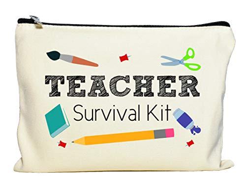 Moonwake Designs Teacher Survival Kit, Teacher Appreciation Gift, Teacher Makeup Bag, Teacher Pe ...