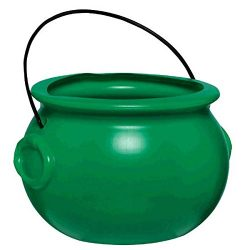Amscan 130080 St. Patrick's Day Plastic Pot Of Gold, 11″ x 8 1/2″ (Pkg Size),  ...