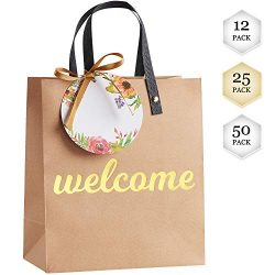 Welcome Bags for Wedding Guests – High Quality Kraft Paper Bags Bulk Perfect as Wedding We ...