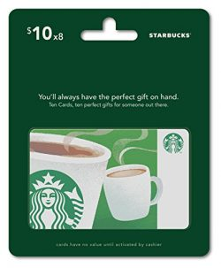 Starbucks Gift Cards, Multipack of 8 – $10