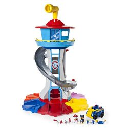 PAW Patrol My Size Lookout Tower with Exclusive Vehicle, Rotating Periscope & Lights & S ...