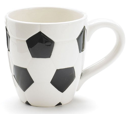 Ceramic Soccer Ball Design Sports Coffee Tea Mug with Handle Great Gift Idea for Coaches, Soccer ...