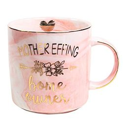 Vilight Housewarming Gifts for New Home – Mother Effing Homeowner Mug Funny Marble Ceramic ...