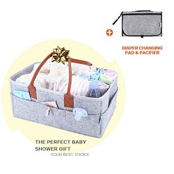 Baby Diaper Caddy Organizer – Baby Shower Gift Basket for Boys Girls – Baby Registry ...
