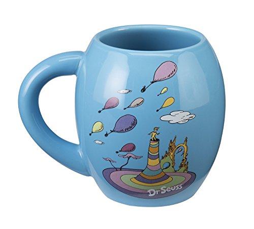 Vandor Dr. Seuss Oh the Places 18 Oz. Oval Ceramic Mug (53830)