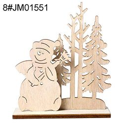 discountstore145 Christmas Candy Gift Basket,Merry Christmas DIY Assemling Wooden Unpainted Sant ...
