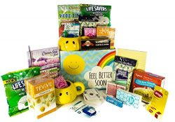 Sun Shine and Rainbows Feel Better Soon Gift Basket, Get Well Wishes – Great Gift for Surg ...