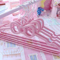 Euone Housekeeping, Multifunctional Heart Shaped Plastic 10pc Hanger for Suits Non Slip 40CM