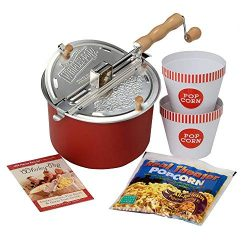 Wabash Valley Farms 26007-amz Red Whirley-Pop Movie Night Tub Set, 6 qt,