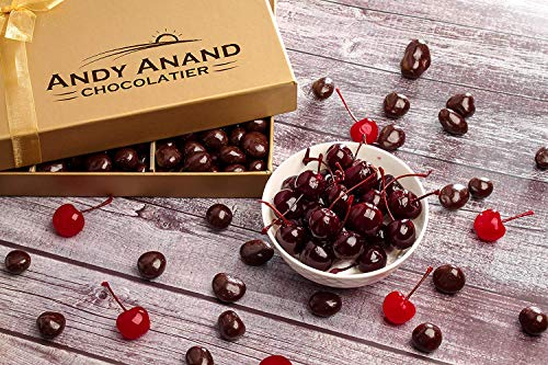 Andy Anand's California Dark Chocolate Covered Cherries for Birthday, Valentine Day, Gourm ...