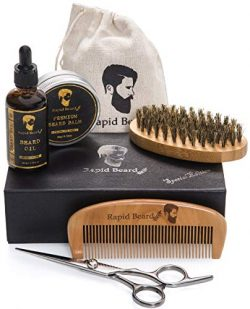 Beard Grooming & Trimming Kit for Men Care – Beard Brush, Beard Comb, Unscented Beard  ...