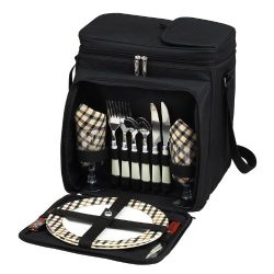 Picnic at Ascot Original Insulated Picnic Basket/Cooler Equipped with Service for 2- Designed, A ...