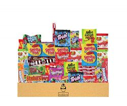 Bulk Assorted Candy Care Package – (50 count) A Sampler of Skittles, Sour Patch Kids, Star ...