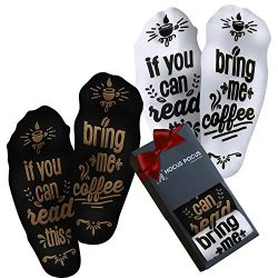 If You Can Read This Bring Me Coffee Socks – Mothers Day Gift Idea For Coffee Lover