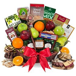GourmetGiftBaskets.com Deluxe Fruit Basket – Gourmet Gift Baskets Prime – Fruit Gift ...