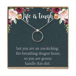 Dear Ava Sympathy Gift Necklace: Illness, Cancer, Chemo, Sickness, Thinking of You, Encouragemen ...