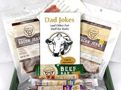 Dad Gift Box Bacon Jerky Turkey Sticks Beef Sticks Pork Sticks Gluten MSG Nitrate & Nitrite  ...