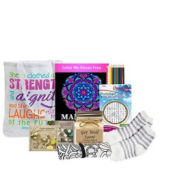 Get Well Gift for Women – Get Well Soon Basket with Chamomile Tea, Get Well Candle and More
