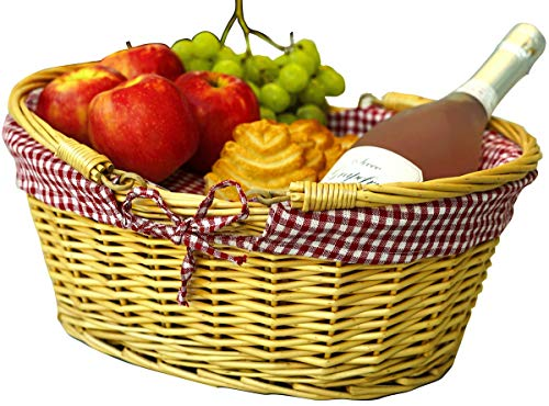 Wicker Picnic Baskets | Little Red Riding Hood Basket for Kids | Hand Woven Wicker Great for Eas ...
