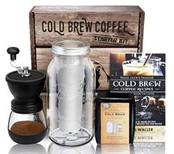 Cold Brew Coffee Maker Starter Kit – Half Gal Mason Jar | Stainless Filter Basket | Cerami ...