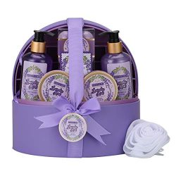 Spa Gift Baskets for Women with Jewellery Case,Bath & Body Gift Set for Her,Luxurious Lavend ...
