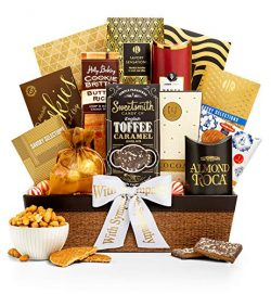 GiftTree Encore Gourmet Sympathy Gift Basket | Assortments of Popcorn, Almond Roca, Honey Roaste ...