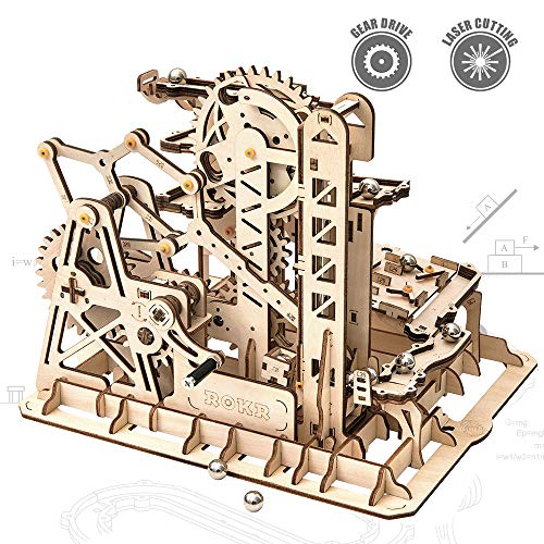 ROKR 3D Wooden Puzzle-Mechanical Model-Wooden Craft Kit-DIY Assembly Toy-Mechanical Gears Set-Br ...
