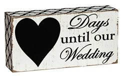 Cypress Home Days Until Our Wedding Countdown Wooden Chalkboard Sign – 8″W x 2″ ...