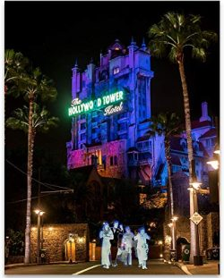 Tower of Terror with Ghosts – 11×14 Unframed A Print – Makes a Great Gift Under ...