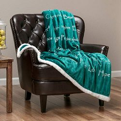 Chanasya Warm Hugs Positive Energy Healing Thoughts Super Soft Plus Fleece Sherpa Microfiber Com ...