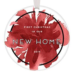 First Christmas New Home Ornament 2019 Dated 1st Time Homeowners Gift Idea House Warming Wedding ...