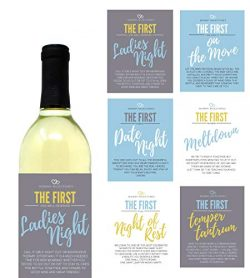 6 Mommy's First Milestone Wine Labels and Stickers, Great Baby Shower and Pregnancy Gift I ...