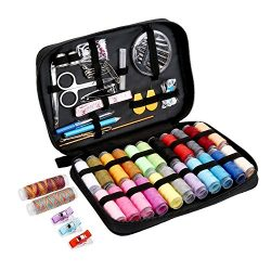 Sewing KIT,JKtown Portable Basic Sewing Accessories,Spools of Thread, Mini sew Kits Supplies for ...