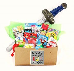 Video Gamer Candy Toy Gift Basket with Pokemon, Skylanders, Zelda, Sonic, Mario and More!