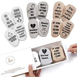 First Landings Baby Socks Set | Adorable Quotes, 6 Pairs and Gift Packaging | Best Gender Neutra ...