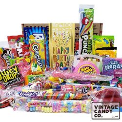 VINTAGE CANDY CO. HAPPY BIRTHDAY FUN CANDY CARE PACKAGE – Modern and Retro Candies Assortm ...