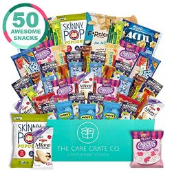 The Care Crate Lady Box Ultimate Lady Snack Box Care Package ( 50 piece Snack Pack ) Chips Varie ...