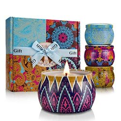 YINUO LIGHT Scented Candles Gift Set, 100% Soy Wax Portable Travel Tin Candles, Women Gifts for  ...