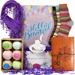 Birthday Gift Baskets for Women – Includes: Journal for Women, Ring Holders for Jewelry, B ...