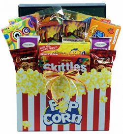 Gift Basket Village Snack Attack Gift Basket with Cookies, Popcorn and Boxes of Sweet Tooth Favo ...