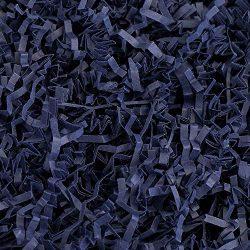 Crinkle Cut Paper Shred Filler (1/2 LB) for Gift Wrapping & Basket Filling – Navy Blue ...