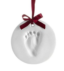 Pearhead Babyprints Baby's First Christmas Handprint or Footprint Holiday Ornament Kit, Ea ...