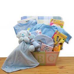 Easy as ABC New Baby Gift Basket – Blue